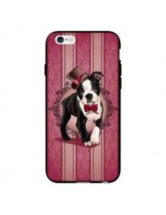 Coque Chien Dog Gentleman Noeud Papillon Chapeau pour iPhone 6 - Maryline Cazenave
