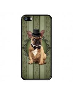 Coque Chien Dog Bulldog Noeud Papillon Chapeau pour iPhone 5 et 5S - Maryline Cazenave