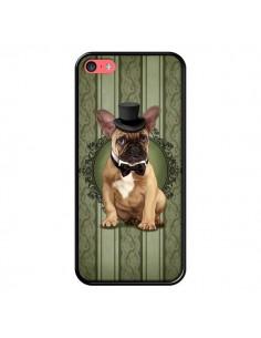Coque Chien Dog Bulldog Noeud Papillon Chapeau pour iPhone 5C - Maryline Cazenave