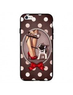 Coque Lady Jambes Chien Dog Pois Noeud papillon pour iPhone 6 - Maryline Cazenave