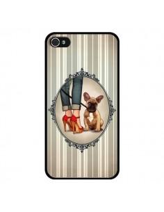 Coque Lady Jambes Chien Dog pour iPhone 4 et 4S - Maryline Cazenave