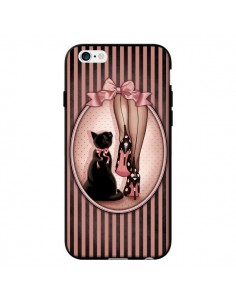 Coque Lady Chat Noeud Papillon Pois Chaussures pour iPhone 6 - Maryline Cazenave