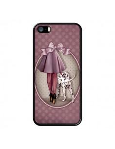 Coque Lady Chien Dog Dalmatien Robe Pois pour iPhone 5 et 5S - Maryline Cazenave