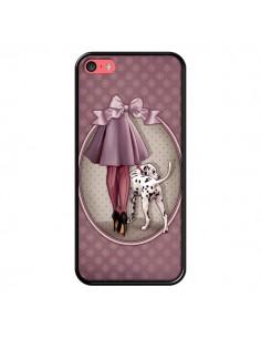 Coque Lady Chien Dog Dalmatien Robe Pois pour iPhone 5C - Maryline Cazenave