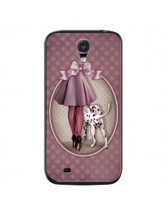 Coque Lady Chien Dog Dalmatien Robe Pois pour Samsung Galaxy S4 - Maryline Cazenave