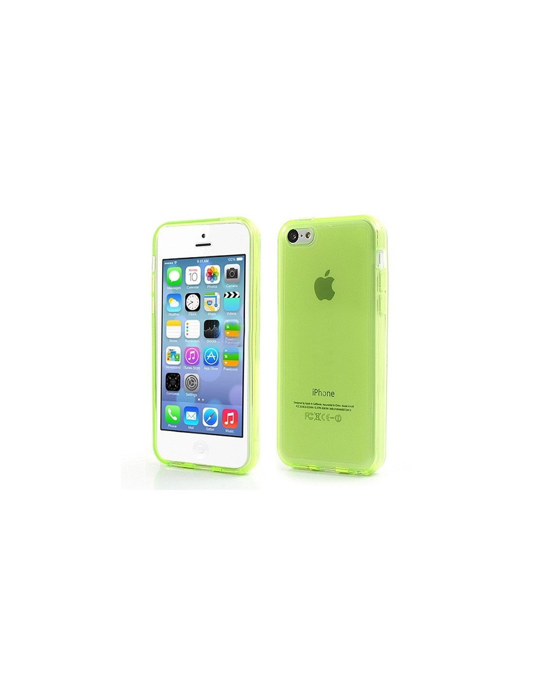 coque transparente de couleurs en silicone pour iphone 5c. Black Bedroom Furniture Sets. Home Design Ideas