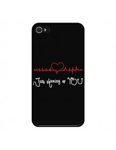 Coque Just Thinking of You Coeur Love Amour pour iPhone 4 et 4S - Julien Martinez