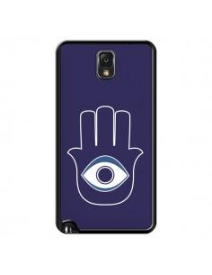 Coque Main de Fatma Oeil Bleu pour Samsung Galaxy Note IV - Laetitia