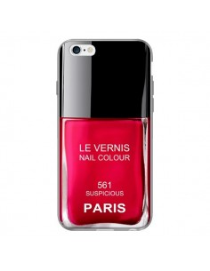 Coque Vernis Paris Suspicious Rouge pour iPhone 6 Plus - Laetitia