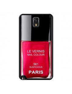 Coque Vernis Paris Suspicious Rouge pour Samsung Galaxy Note IV - Laetitia