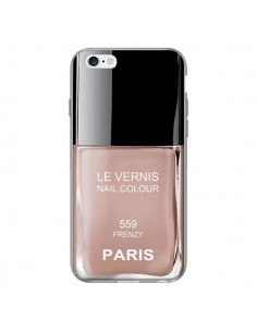 Coque Vernis Paris Frenzy Beige pour iPhone 6 Plus - Laetitia