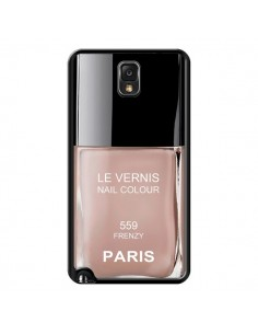 Coque Vernis Paris Frenzy Beige pour Samsung Galaxy Note IV - Laetitia
