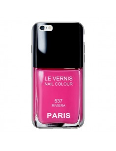 Coque Vernis Paris Riviera Rose pour iPhone 6 Plus - Laetitia