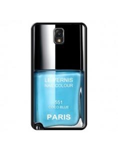 Coque Vernis Paris Coco Blue Bleu pour Samsung Galaxy Note IV - Laetitia