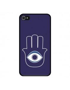 Coque Main de Fatma Oeil Bleu pour iPhone 4 et 4S - Laetitia