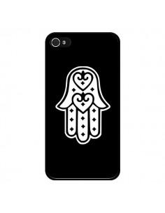 Coque Main de Fatma Oeil Noir pour iPhone 4 et 4S - Laetitia