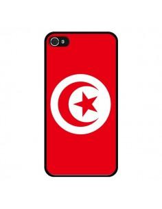 Coque Drapeau Tunisie Tunisien pour iPhone 4 et 4S - Laetitia