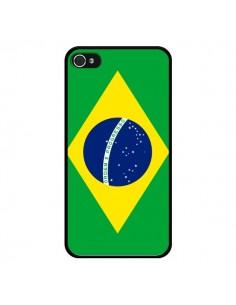 Coque Drapeau Brésil Brésilien pour iPhone 4 et 4S - Laetitia