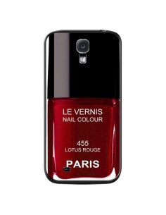 Coque Vernis Paris Lotus Rouge pour Samsung Galaxy S4 - Laetitia