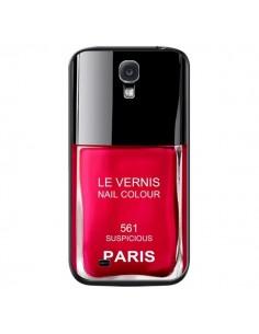 Coque Vernis Paris Suspicious Rouge pour Samsung Galaxy S4 - Laetitia