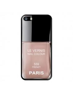 Coque Vernis Paris Frenzy Beige pour iPhone 5 et 5S - Laetitia