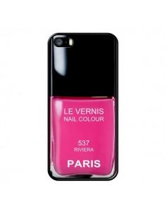 Coque Vernis Paris Riviera Rose pour iPhone 5 et 5S - Laetitia