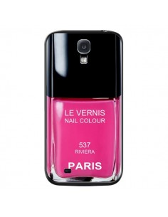 Coque Vernis Paris Riviera Rose pour Samsung Galaxy S4 - Laetitia