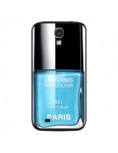 Coque Vernis Paris Coco Blue Bleu pour Samsung Galaxy S4 - Laetitia