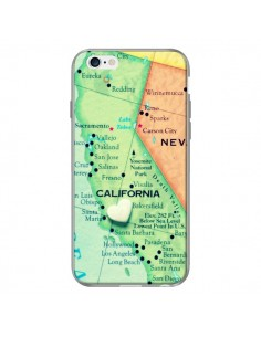 Coque Carte Map Californie pour iPhone 6 Plus - R Delean