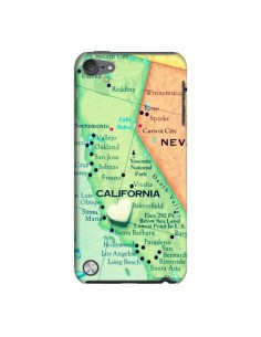 Coque Carte Map Californie pour iPod Touch 5 - R Delean
