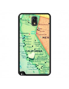 Coque Carte Map Californie pour Samsung Galaxy Note III - R Delean