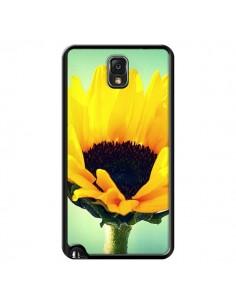 Coque Tournesol Zoom Fleur pour Samsung Galaxy Note 4 - R Delean