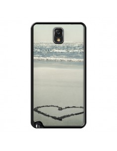 Coque Cœur Plage Beach Mer Sea Love Sable Sand pour Samsung Galaxy Note 4 - R Delean