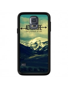 Coque Adventure the pursuit of life Montagnes Ski Paysage pour Samsung Galaxy S5 - R Delean
