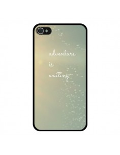Coque Adventure is waiting Cœurs pour iPhone 4 et 4S - R Delean
