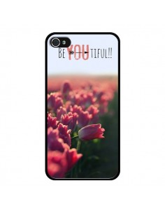 Coque Coque Be you Tiful Tulipes pour iPhone 4 et 4S - R Delean