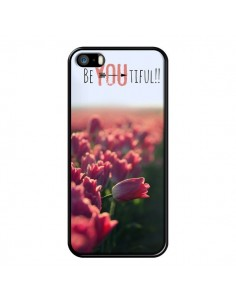 Coque Coque Be you Tiful Tulipes pour iPhone 5 et 5S - R Delean