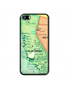 Coque Carte Map Californie pour iPhone 5 et 5S - R Delean