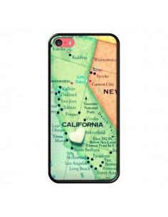 Coque Carte Map Californie pour iPhone 5C - R Delean