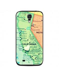 Coque Carte Map Californie pour Samsung Galaxy S4 - R Delean