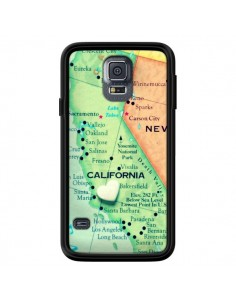 Coque Carte Map Californie pour Samsung Galaxy S5 - R Delean