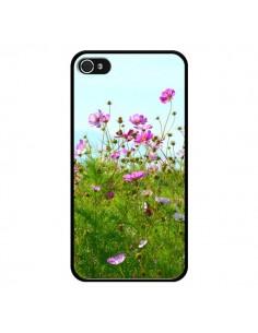 Coque Fleurs Roses Champ pour iPhone 4 et 4S - R Delean