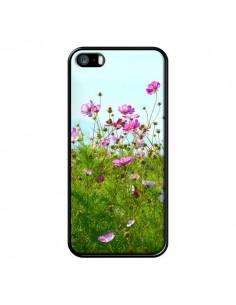 Coque Fleurs Roses Champ pour iPhone 5 et 5S - R Delean