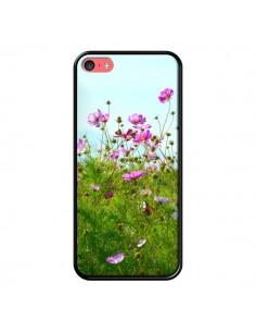 Coque Fleurs Roses Champ pour iPhone 5C - R Delean