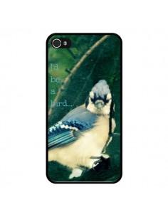Coque I'd be a bird Oiseau pour iPhone 4 et 4S - R Delean