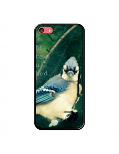 Coque I'd be a bird Oiseau pour iPhone 5C - R Delean