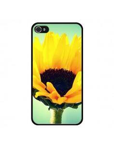 Coque Tournesol Zoom Fleur pour iPhone 4 et 4S - R Delean