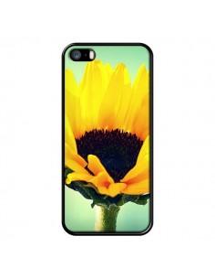 Coque Tournesol Zoom Fleur pour iPhone 5 et 5S - R Delean