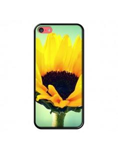 Coque Tournesol Zoom Fleur pour iPhone 5C - R Delean