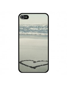 Coque Cœur Plage Beach Mer Sea Love Sable Sand pour iPhone 4 et 4S - R Delean
